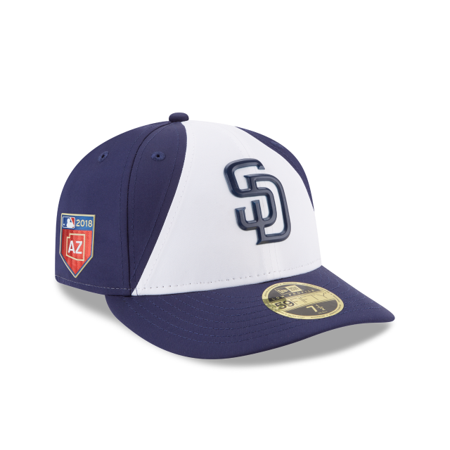 7987e906 SAN DIEGO PADRES SPRING TRAINING LOW PROFILE PROLIGHT 59FIFTY FITTED 3  quarter right view