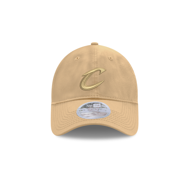WOMENS CLEVELAND CAVALIERS TAN TONAL 9TWENTY ADJUSTABLE Front view