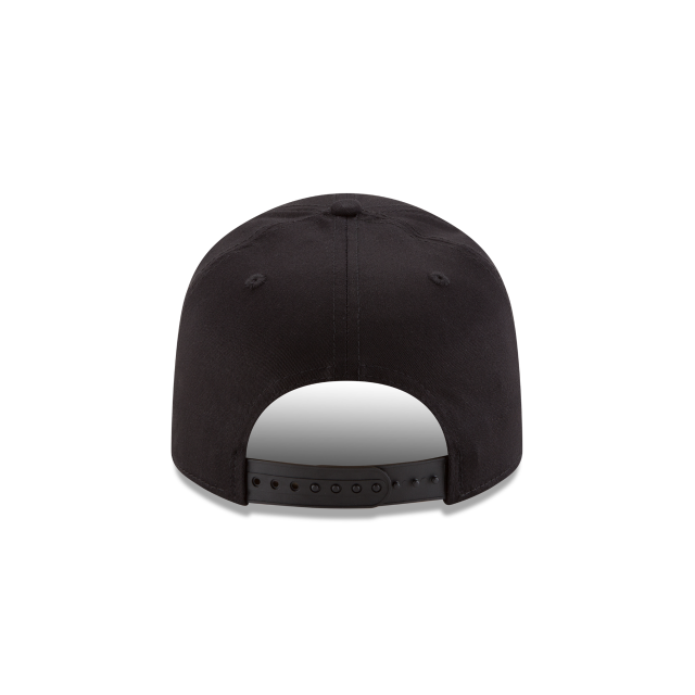 MIAMI DOLPHINS BLACK AND WHITE STRETCH SNAP 9FIFTY SNAPBACK Rear view