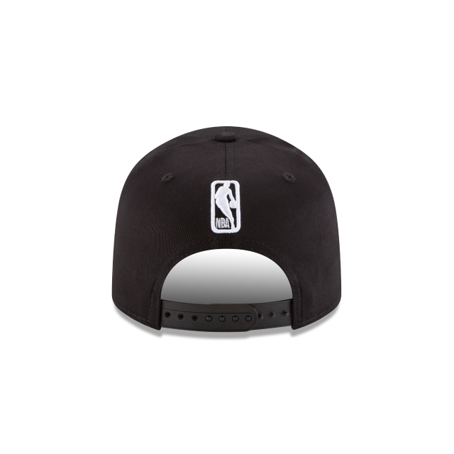 UTAH JAZZ BLACK AND WHITE STRETCH SNAP 9FIFTY SNAPBACK Rear view