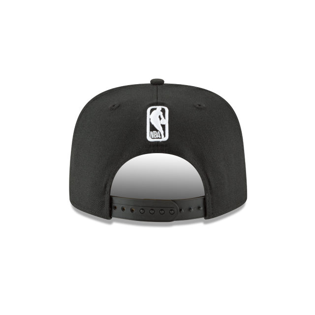 PHILADELPHIA 76ERS BLACK AND WHITE HIGH CROWN 9FIFTY SNAPBACK Rear view