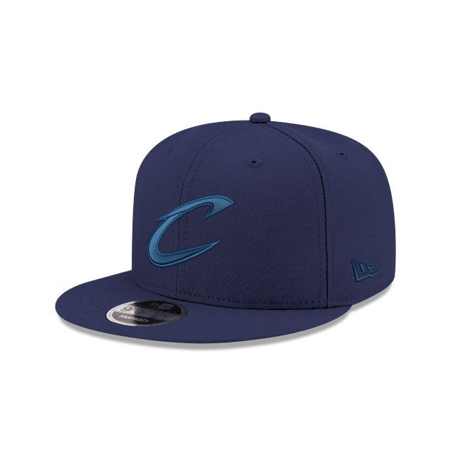 CLEVELAND CAVALIERS BLUE TONAL 9FIFTY SNAPBACK 3 quarter left view