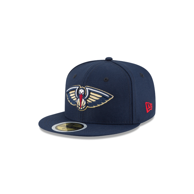 dd9cb5e753bf2 KIDS NEW ORLEANS PELICANS TEAM COLOR 59FIFTY FITTED 3 quarter left view