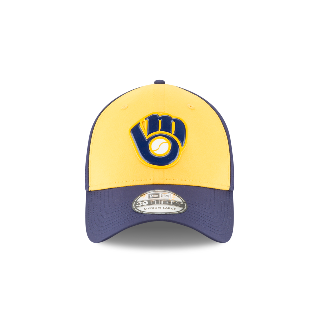 MILWAUKEE BREWERS ALTERNATE MLB BATTING PRACTICE PROLIGHT 39THIRTY STRETCH FIT Front view