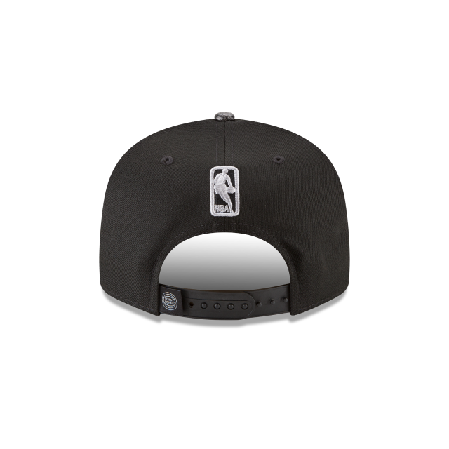 DETROIT PISTONS SNAKESKIN BLACK 9FIFTY SNAPBACK Rear view