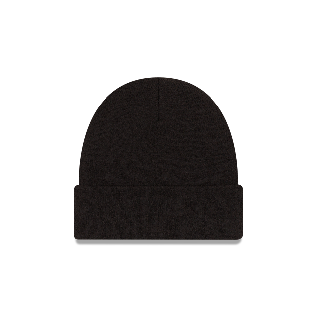 EK SLUB BLACK CUFF BEANIE Rear view