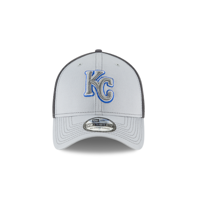 KANSAS CITY ROYALS GRAYED OUT NEO 39THIRTY STRETCH FIT Front view