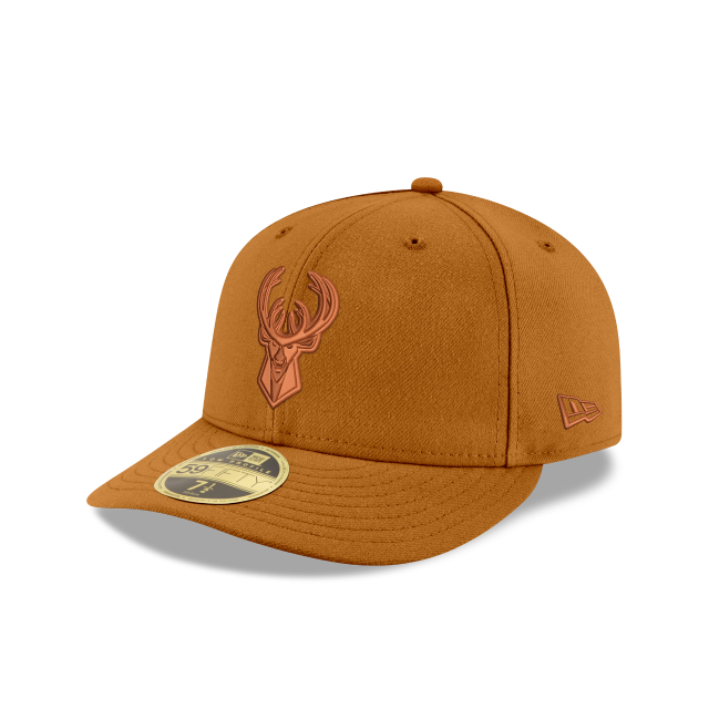 MILWAUKEE BUCKS TONAL LOW PROFILE 59FIFTY FITTED 3 quarter left view