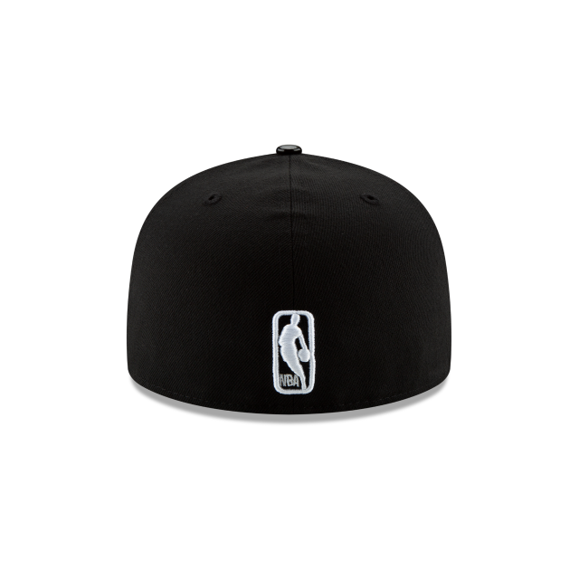 CHICAGO BULLS BLACK RETRO HOOK 59FIFTY FITTED Rear view