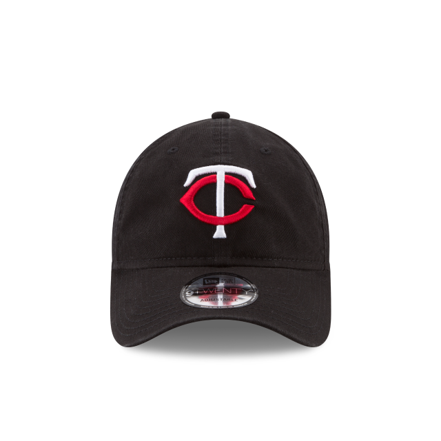 MINNESOTA TWINS CORE CLASSIC BLACK 9TWENTY ADJUSTABLE Front view