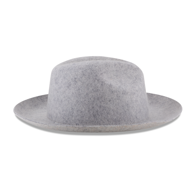 WIDE BRIM GREY FEDORA Right side view