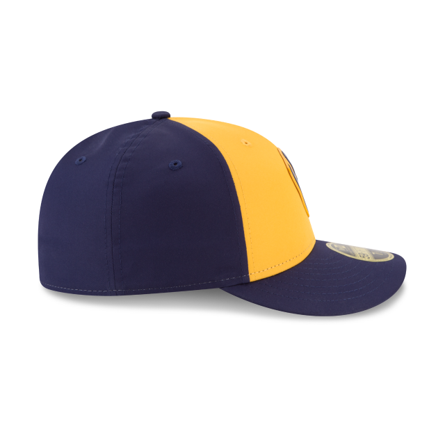 MILWAUKEE BREWERS ALTERNATE MLB BATTING PRACTICE PROLIGHT LOW PROFILE 59FIFTY FITTED Right side view