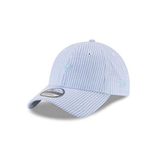 BLUE PINSTRIPE 9TWENTY ADJUSTABLE 3 quarter left view