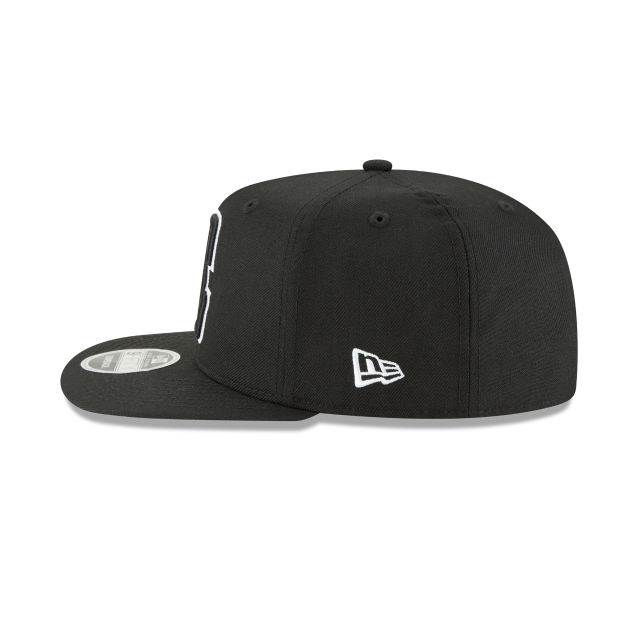 LOS ANGELES CLIPPERS BLACK AND WHITE HIGH CROWN 9FIFTY SNAPBACK Left side view