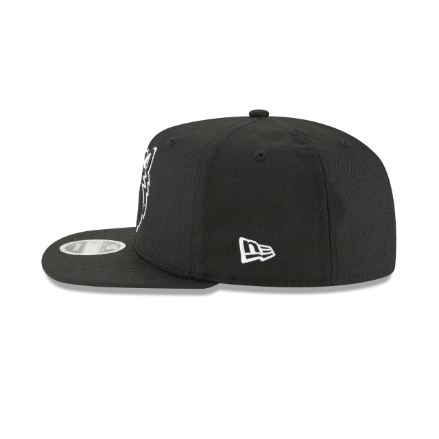 MINNESOTA TIMBERWOLVES BLACK AND WHITE HIGH CROWN 9FIFTY SNAPBACK Left side view