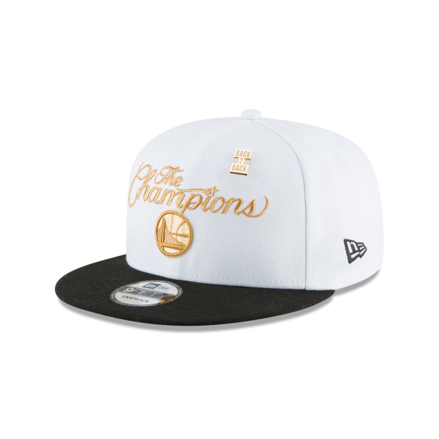 GOLDEN STATE WARRIORS NBA CHAMPS RING CEREMONY 9FIFTY SNAPBACK 3 quarter left view