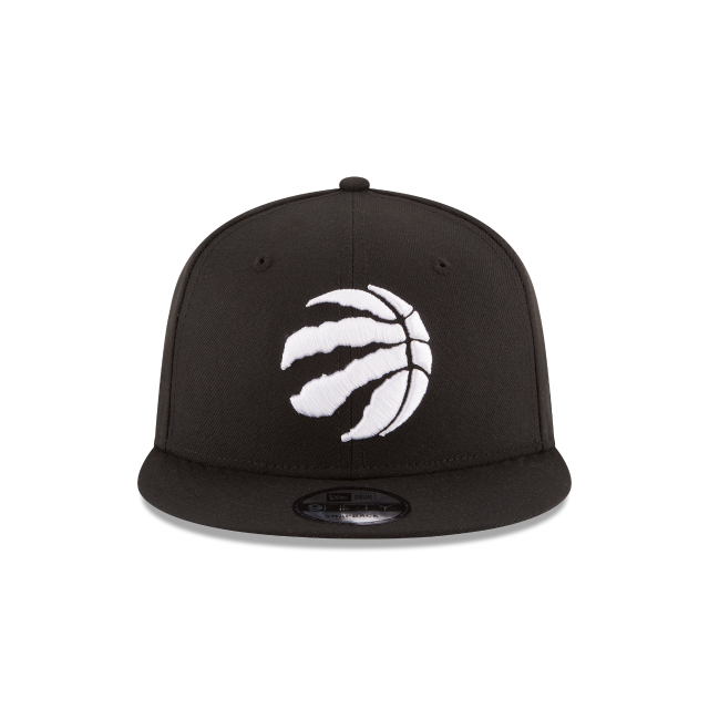 TORONTO RAPTORS BASIC BLACK 9FIFTY SNAPBACK Front view