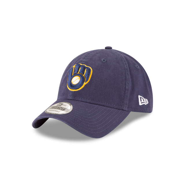 MILWAUKEE BREWERS CORE CLASSIC ALT2 9TWENTY ADJUSTABLE 3 quarter left view