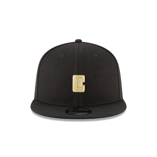 LOS ANGELES CLIPPERS BADGE SLICK 9FIFTY SNAPBACK Front view