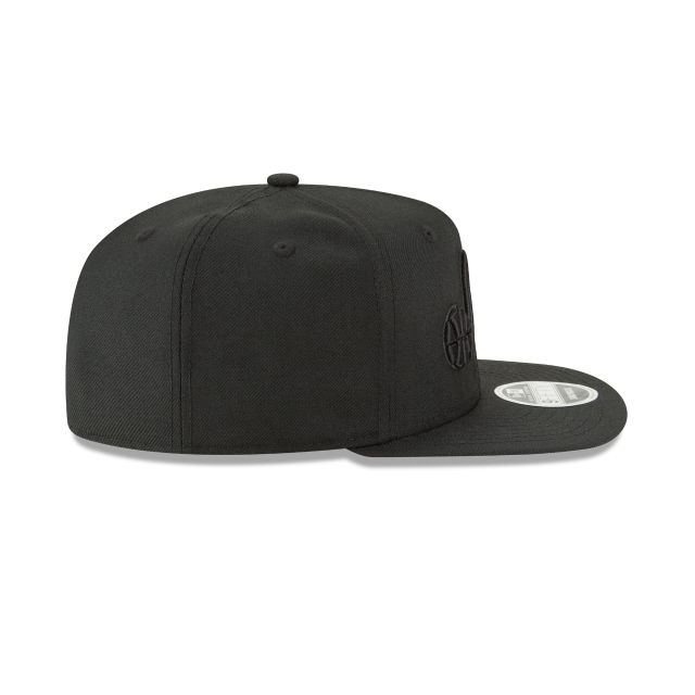 UTAH JAZZ BLACK ON BLACK HIGH CROWN 9FIFTY SNAPBACK Right side view