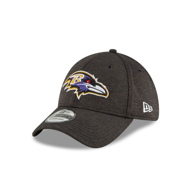 72bceee6181 BALTIMORE RAVENS OFFICIAL SIDELINE HOME 39THIRTY STRETCH FIT 3 quarter left  view