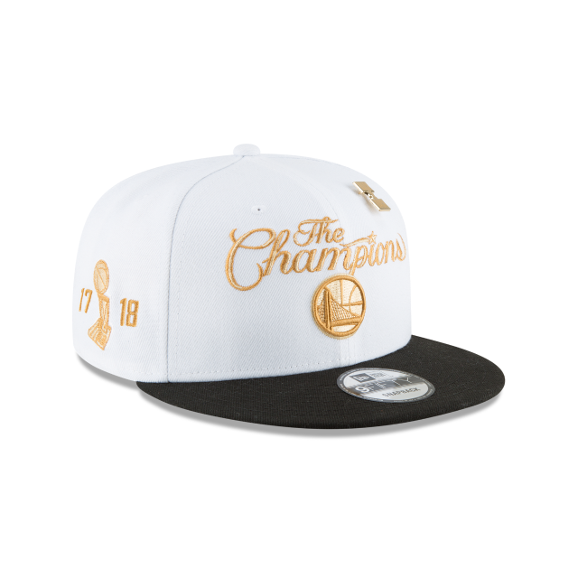 GOLDEN STATE WARRIORS NBA CHAMPS RING CEREMONY 9FIFTY SNAPBACK 3 quarter right view