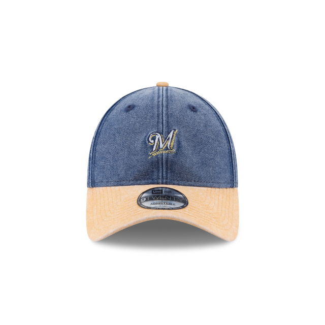 MILWAUKEE BREWERS RUGGED CANVAS 9TWENTY ADJUSTABLE Front view