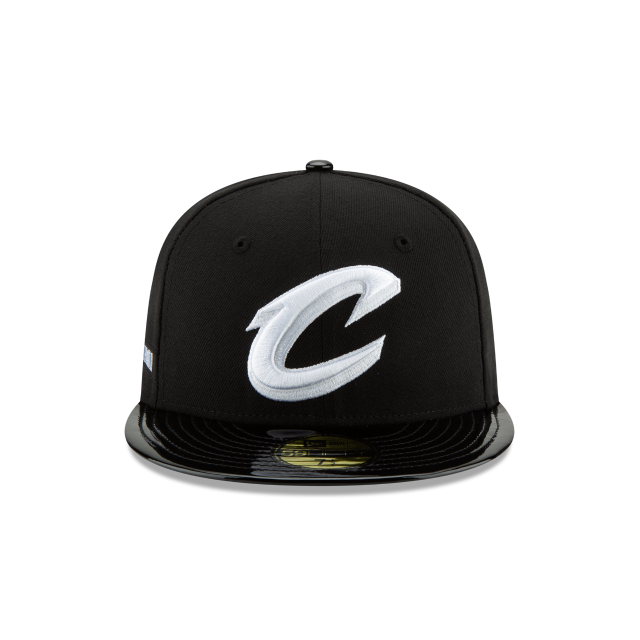 CLEVELAND CAVALIERS BLACK RETRO HOOK 59FIFTY FITTED Front view