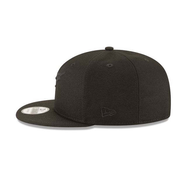FLORIDA MARLINS BLACKOUT 9FIFTY SNAPBACK Left side view