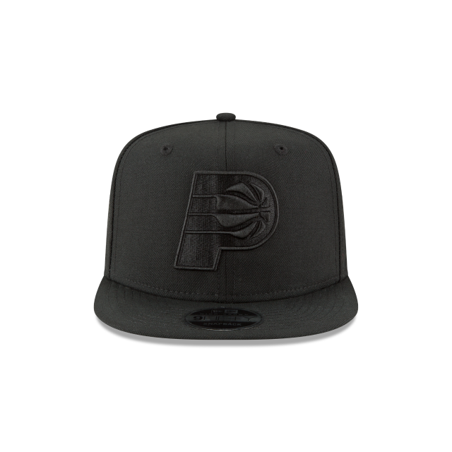 INDIANA PACERS BLACK ON BLACK HIGH CROWN 9FIFTY SNAPBACK Front view