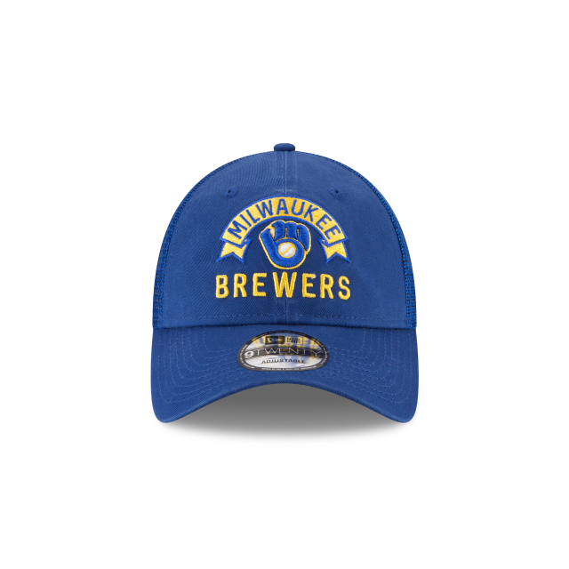 MILWAUKEE BREWERS STACKED CLASSIC 9TWENTY ADJUSTABLE Front view