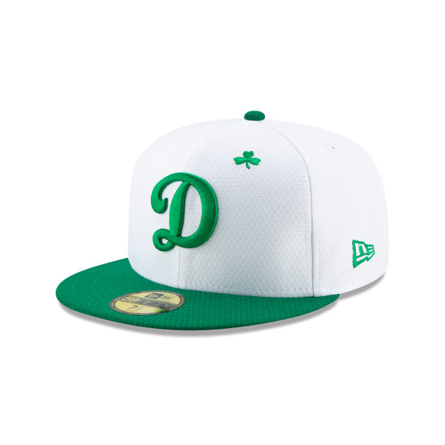LOS ANGELES DODGERS ST PATRICKS DAY 59FIFTY FITTED 3 quarter left view