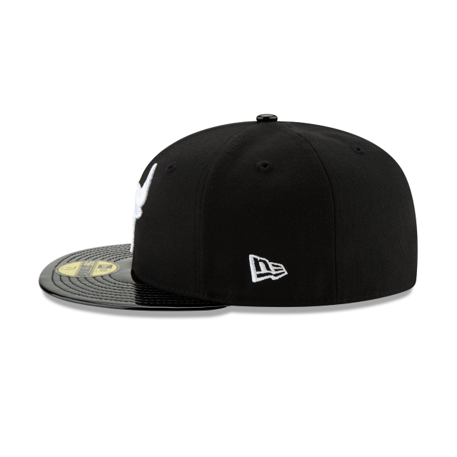 CHICAGO BULLS BLACK RETRO HOOK 59FIFTY FITTED Left side view