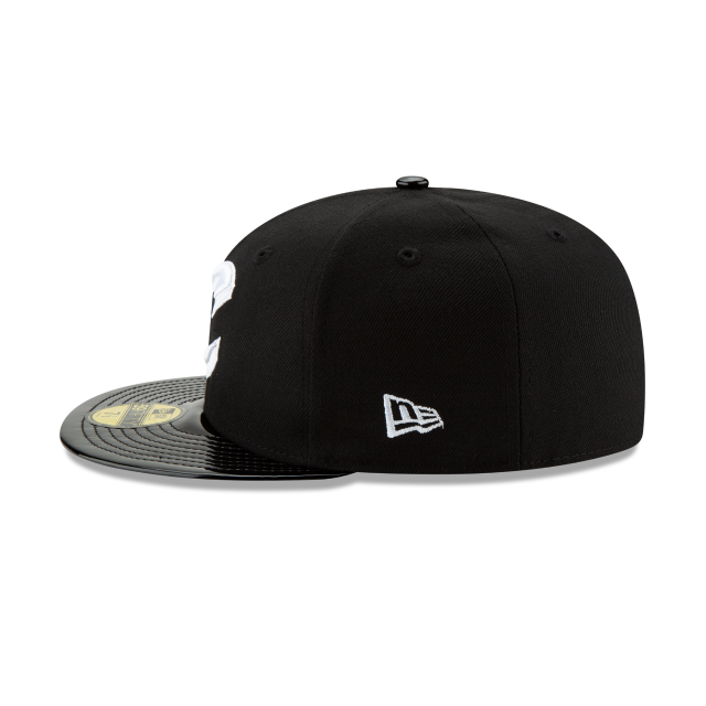 CLEVELAND CAVALIERS BLACK RETRO HOOK 59FIFTY FITTED Left side view