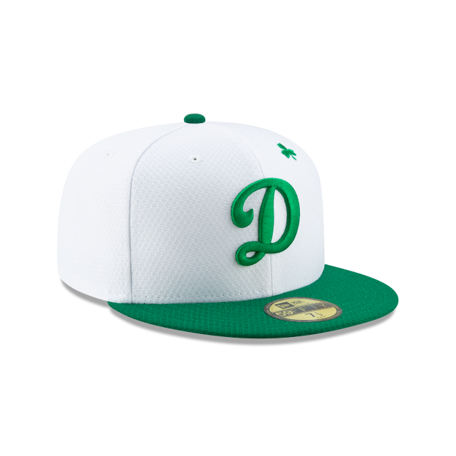 LOS ANGELES DODGERS ST PATRICKS DAY 59FIFTY FITTED 3 quarter right view