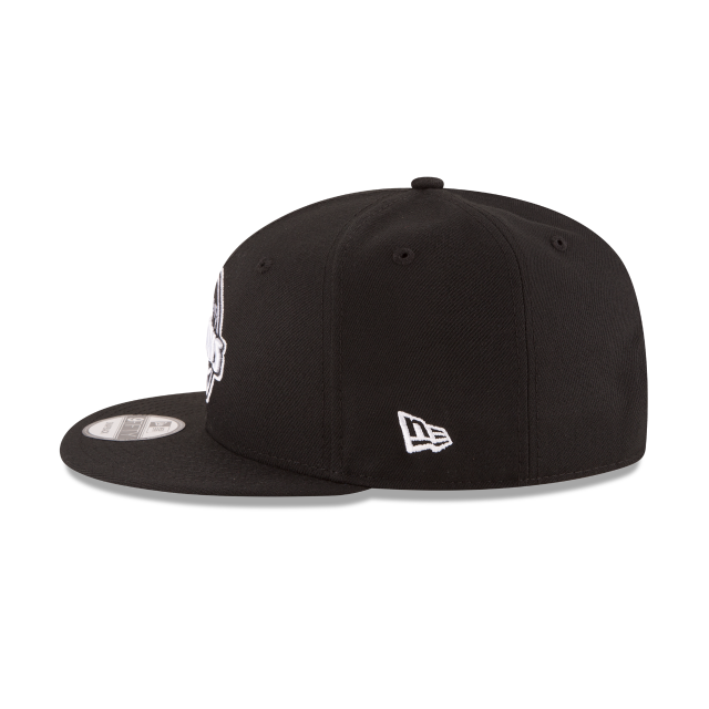 DETROIT PISTONS BASIC BLACK 9FIFTY SNAPBACK Left side view