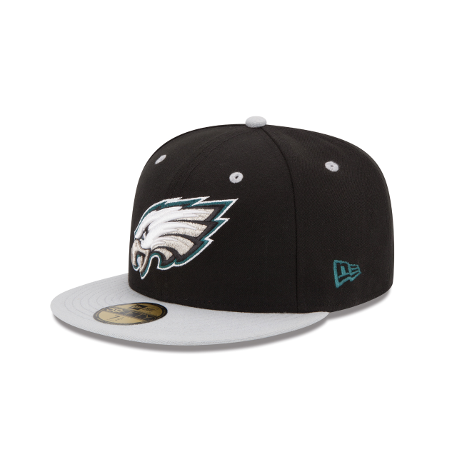 huge selection of c7cf7 069f6 ... authentic philadelphia eagles 2tone 59fifty fitted 3 quarter left view  b0077 bcc50