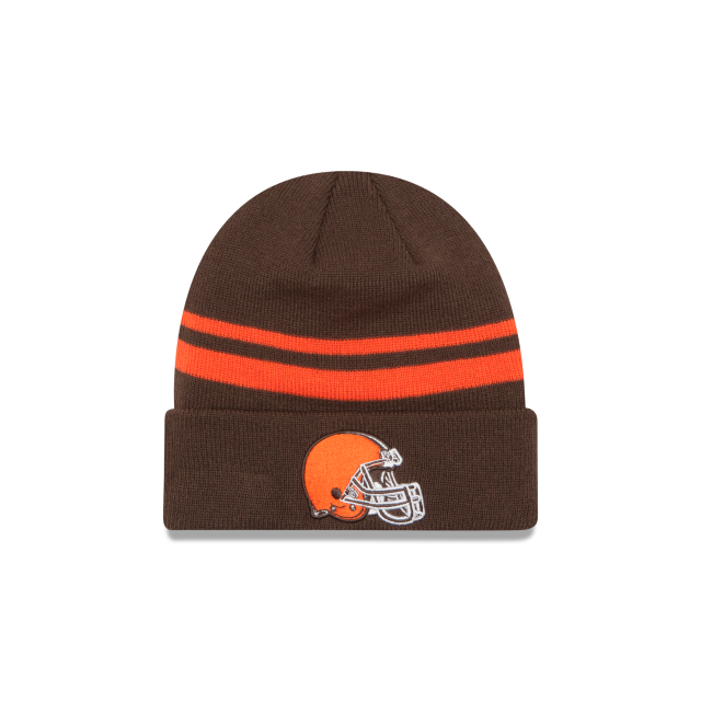 2d0cae486d2 cheap new era cleveland browns 2017 nfl sideline on field sport knit hat  brown 7a71e 26a94  best price cleveland browns cuff knit front view 7b354  96e02