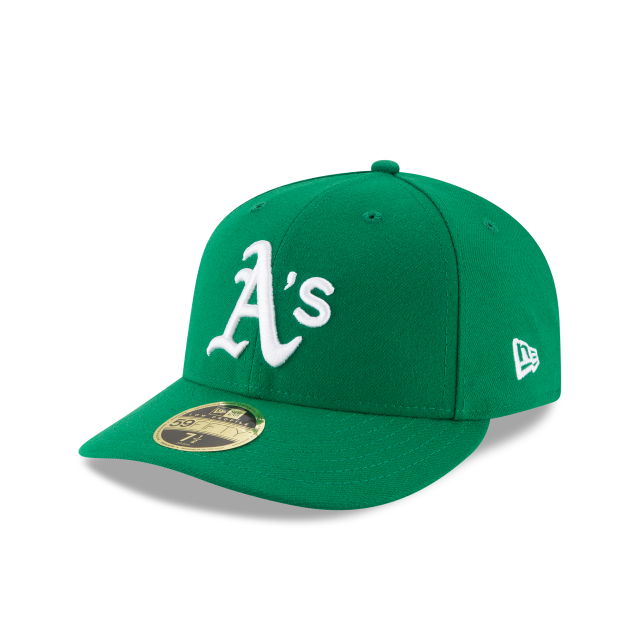 OAKLAND ATHLETICS LOW PROFILE ALTERNATE AUTHENTIC COLLECTION 59FIFTY FITTED 3 quarter left view