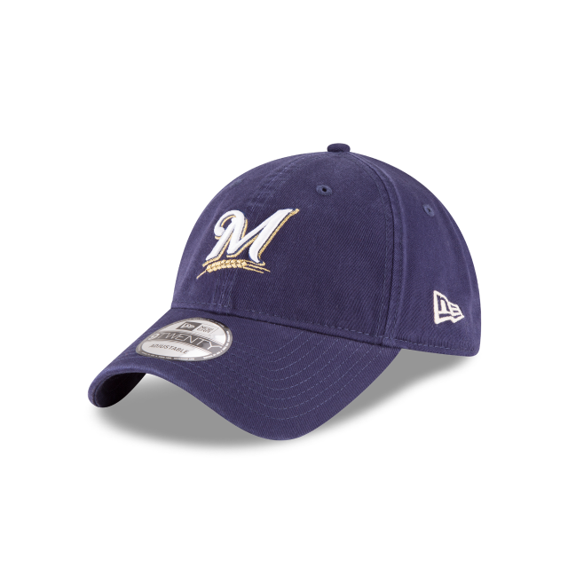 MILWAUKEE BREWERS CORE CLASSIC 9TWENTY ADJUSTABLE 3 quarter left view