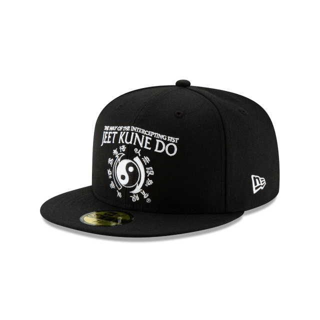 BRUCE LEE BLACK 59FIFTY FITTED 3 quarter left view