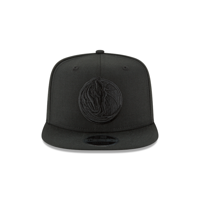DALLAS MAVERICKS BLACK ON BLACK HIGH CROWN 9FIFTY SNAPBACK Front view