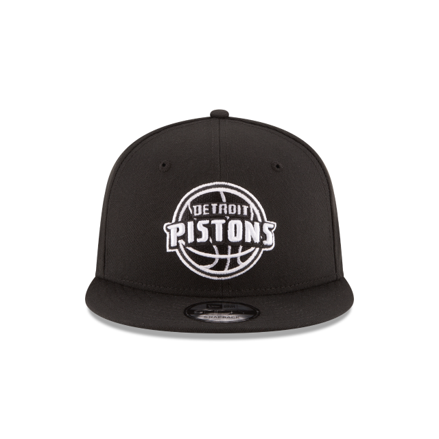 DETROIT PISTONS BASIC BLACK 9FIFTY SNAPBACK Front view