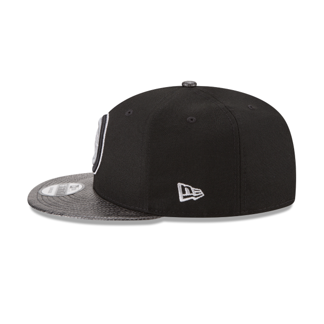 DETROIT PISTONS SNAKESKIN BLACK 9FIFTY SNAPBACK Left side view