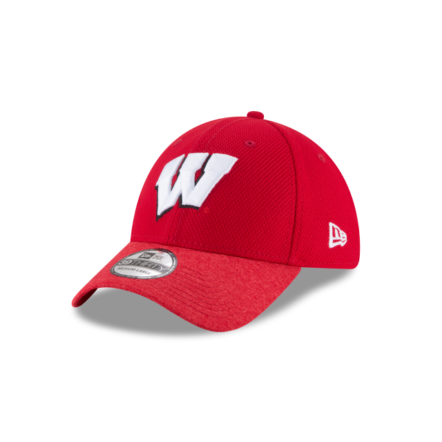 80d3ed1aa43 WISCONSIN BADGERS VIGOR SHADE 39THIRTY STRETCH FIT 3 quarter left view