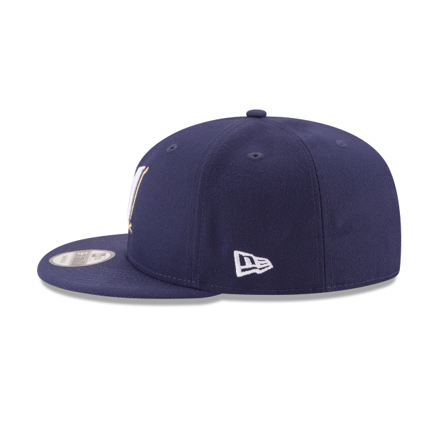 MILWAUKEE BREWERS POSTSEASON SIDE PATCH BASIC 9FIFTY SNAPBACK Left side view