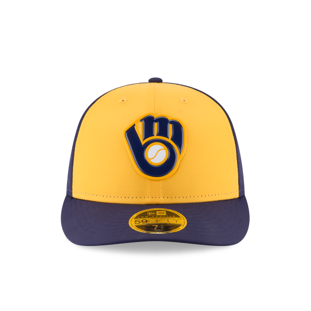 MILWAUKEE BREWERS ALTERNATE MLB BATTING PRACTICE PROLIGHT LOW PROFILE 59FIFTY FITTED Front view