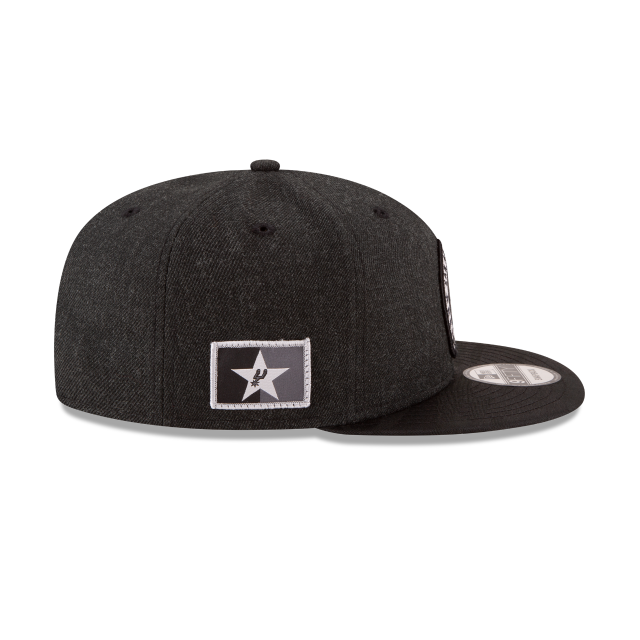 SAN ANTONIO SPURS 2018 NBA AUTHENTICS: TIP OFF SERIES BLACK 9FIFTY SNAPBACK Right side view