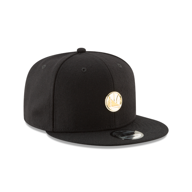 GOLDEN STATE WARRIORS BADGE SLICK 9FIFTY SNAPBACK 3 quarter right view