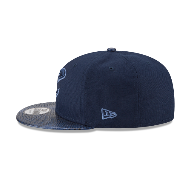 CLEVELAND CAVALIERS SNAKESKIN BLUE 9FIFTY SNAPBACK Left side view